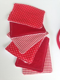 lingettes lavables - idéales pour se démaquiller ou débarbouiller bébé - APPRENDRE LES BASES DE LA COUTURE