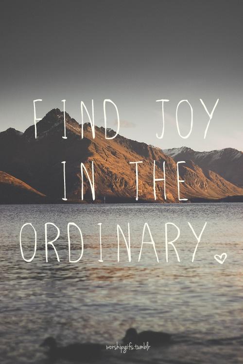 find joy in the ordinary - la vie est belle