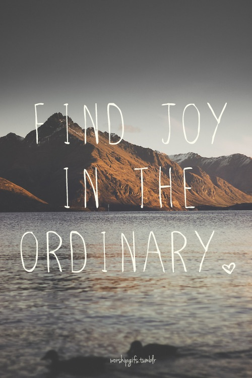 find joy in the ordinary - la vie est belle