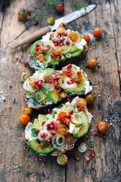 tartines salées - petit-déjeuner healthy salé