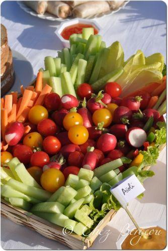 bâtonnets de légumes apéro sain