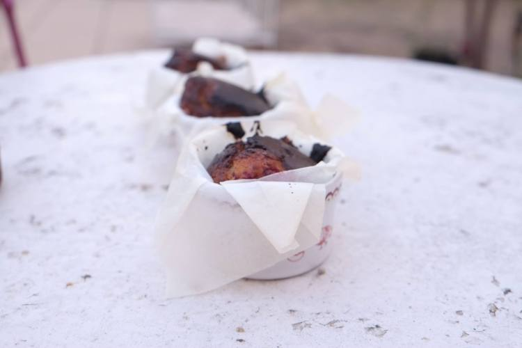 Muffins à la framboise sans sucre, sans matière grasse et sans lactose