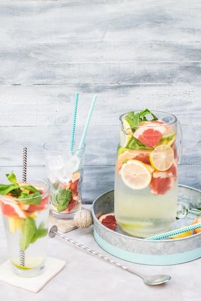 eaux aromatisées - citron pamplemousse menthe