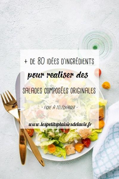 idées d'ingrédients recettes salades composées