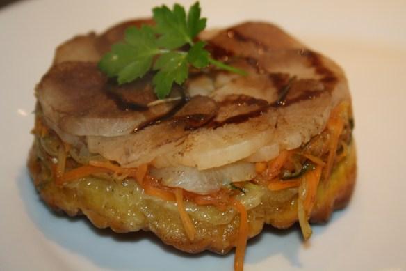 Tatins de navet carottes courgettes au chèvre 2