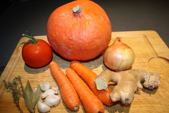 Velouté de potiron au gingembre