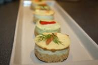 Mini cheese cakes salés