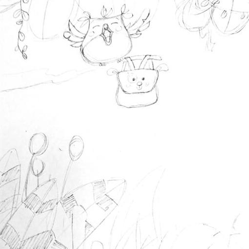 Croquis, illustration de couverture de livre de naissance personnalisé