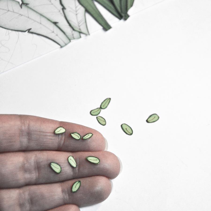 Petites feuilles en papier découpé - Les Petits pois sont Bleus