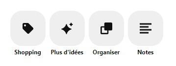 Pinterest ajoute une barre d'outils dans les tableaux
