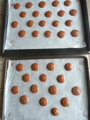 recette des macarons chocolat lait et praliné