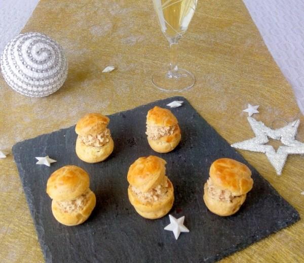 choux apéritif au foie gras