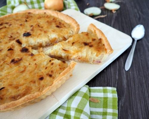 tarte à l'oignon et aux lardons
