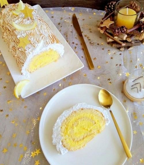 recette bûche citron meringuée pour Noel