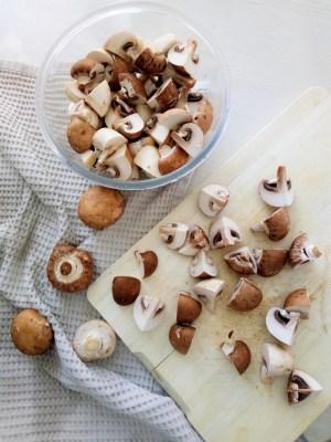 ficelle picardedécoupe des champignons