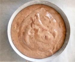 génoise chocolat avant la cuisson