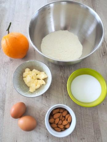 ingrédients pour les croquants