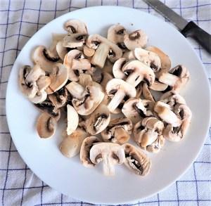 champignons émincés