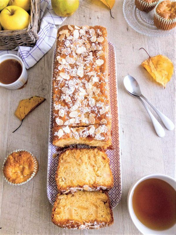cake moelleux aux pommes et poires