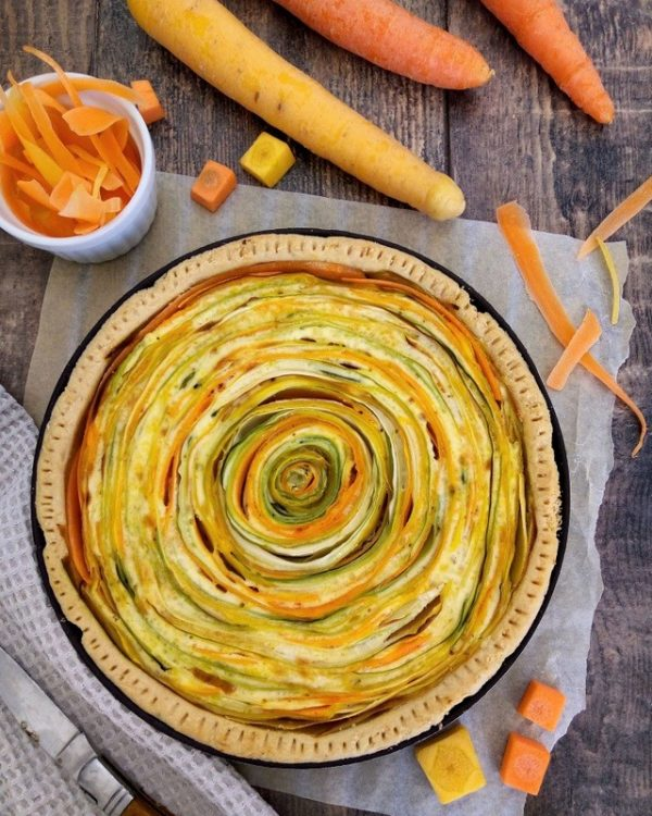 tarte spirale carottes courgettes