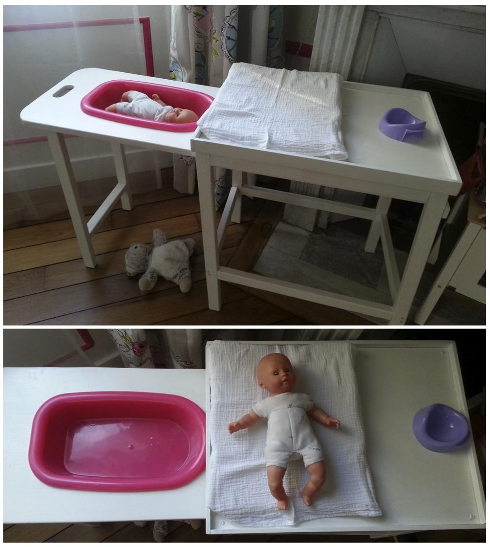 Table Langer Et Baignoire Pour Poupe Les Petits