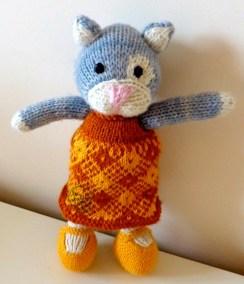 Nuage chaton tricoté 1