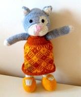 Nuage chaton tricoté