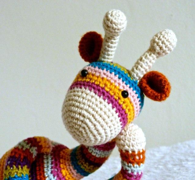 crochet Les Petits girafe peluche