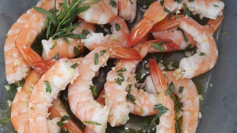 Crevettes marinées à l'estragon