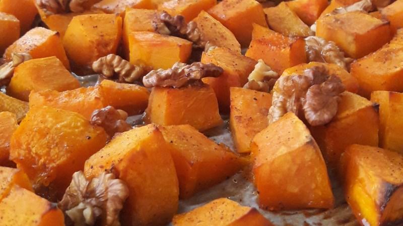 Potimarron rôti au miel et aux noix
