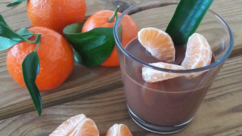Crème onctueuse au chocolat et clémentine de Corse