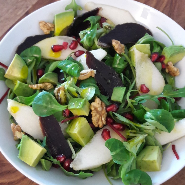 salade healthy magret poire avocat