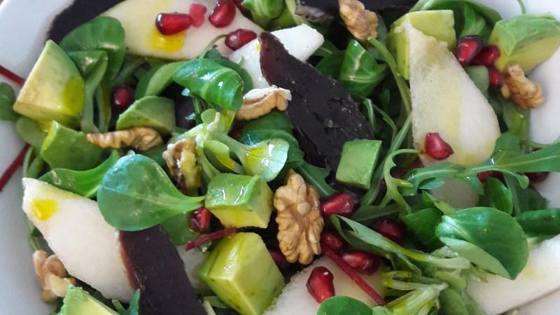 Salade healthy au magret séché