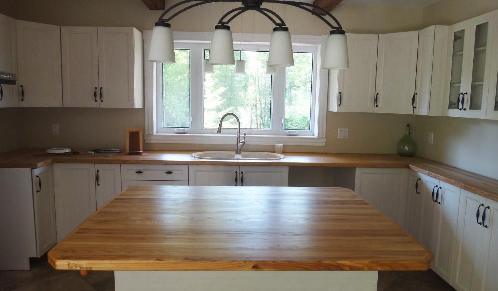 comptoirs de cuisine en bois les