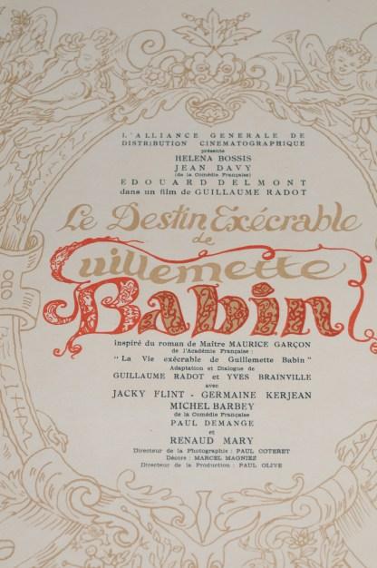 Le Destin exécrable de Guillemette Babin film de Guillaume Radot