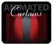 Keynotethemepark.com's animated curtains