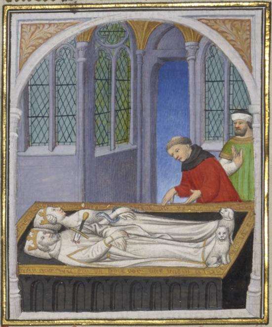 Tombe de Cléopâtre et Marc-Antoine - Illustration miniature par Boucicaut