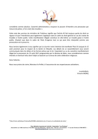 Courrier préfet cérémonie 15 août 2017-2