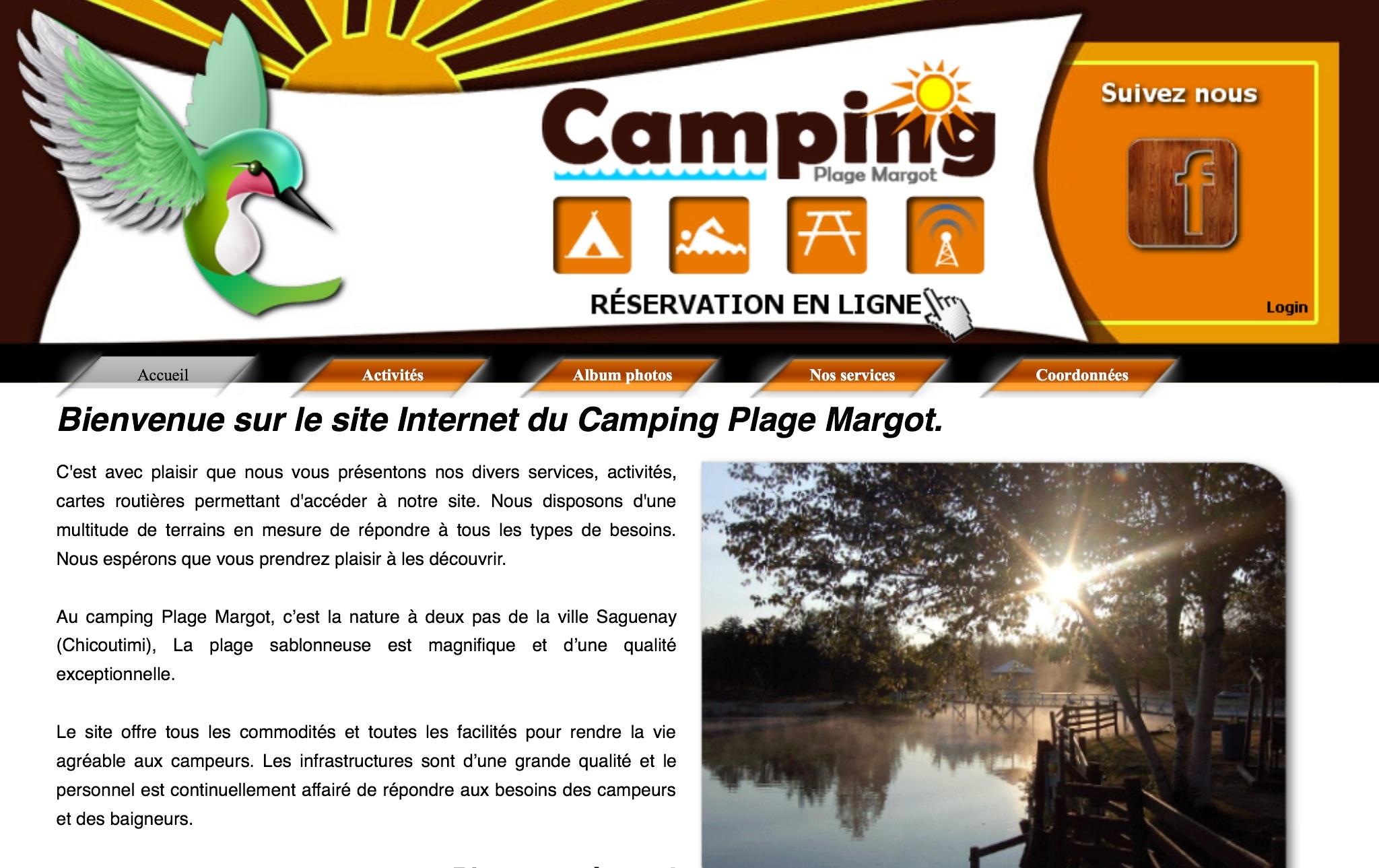 Camping, Plage Margot