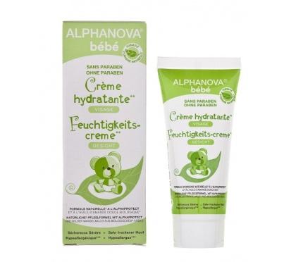 crème hydratante alphanova bébé bio