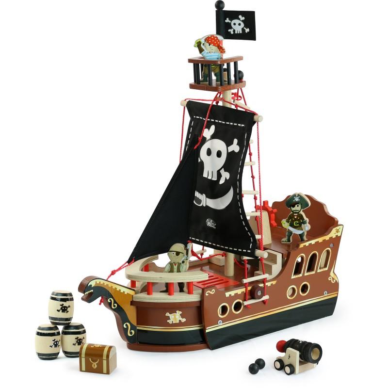 bateau pirate en bois cadeau 3 ans