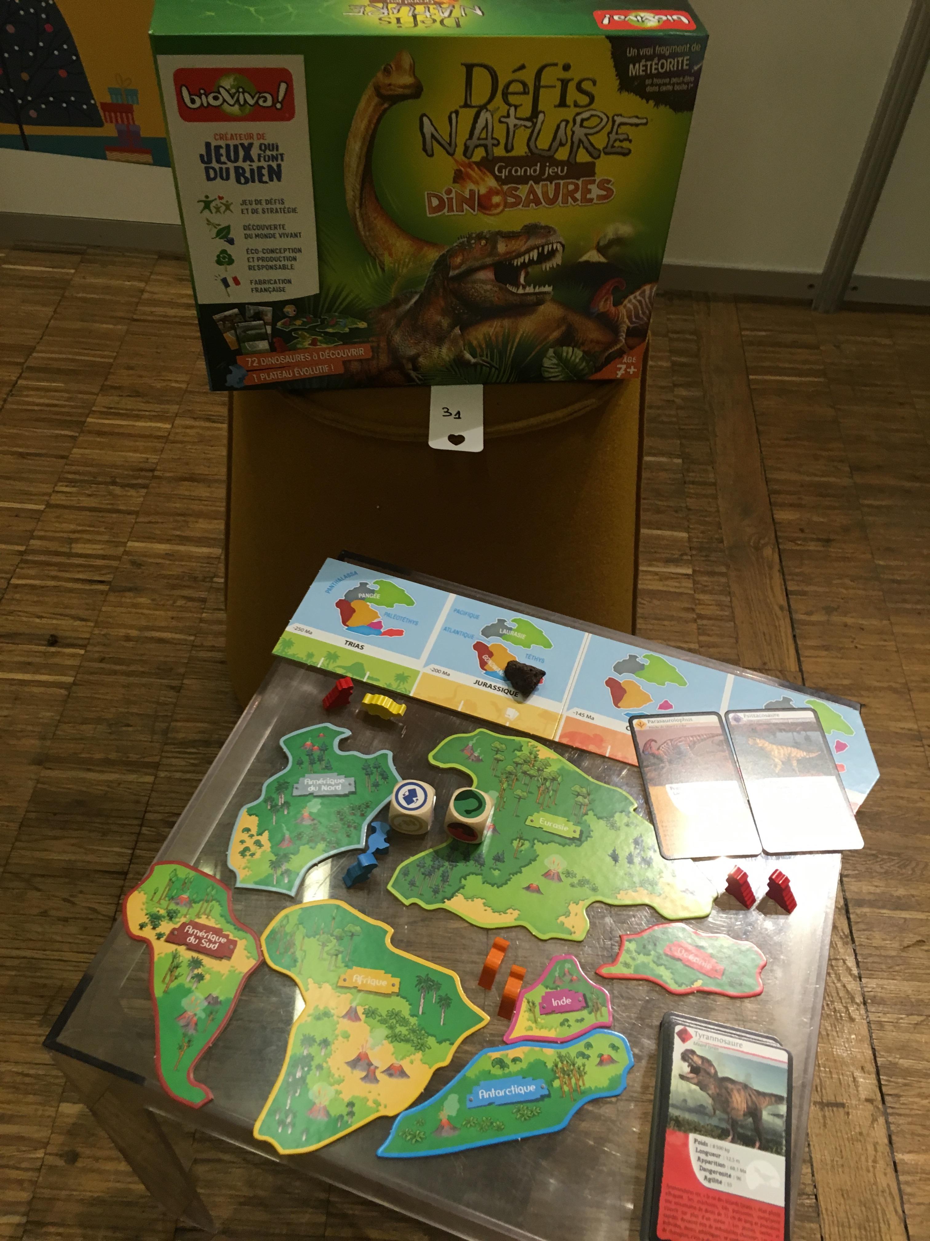 défis nature dinosaures bioviva lesptitesmainsdabord journée presse jeux et jouets 2020 idées cadeaux Noël