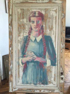 Double je acrylique sur bois de Coraline Van Butsele