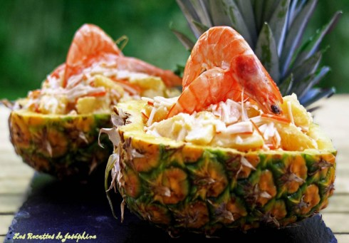 Ananas surprise aux crevettes