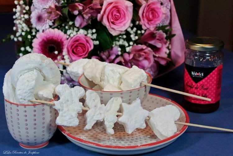 Guimauves a la gelée de rose