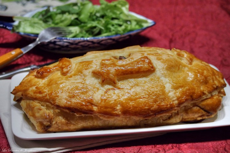 Pâté chaude de canard au foie gras et champignons
