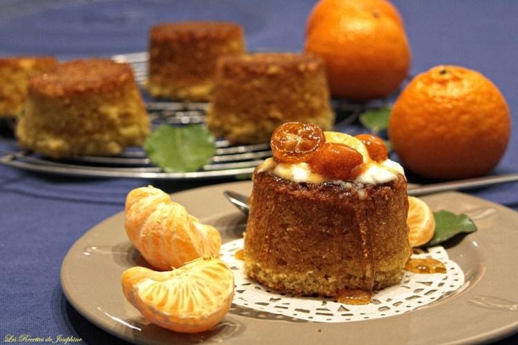 Gâteaux à la mandarine et aux kumquats confits