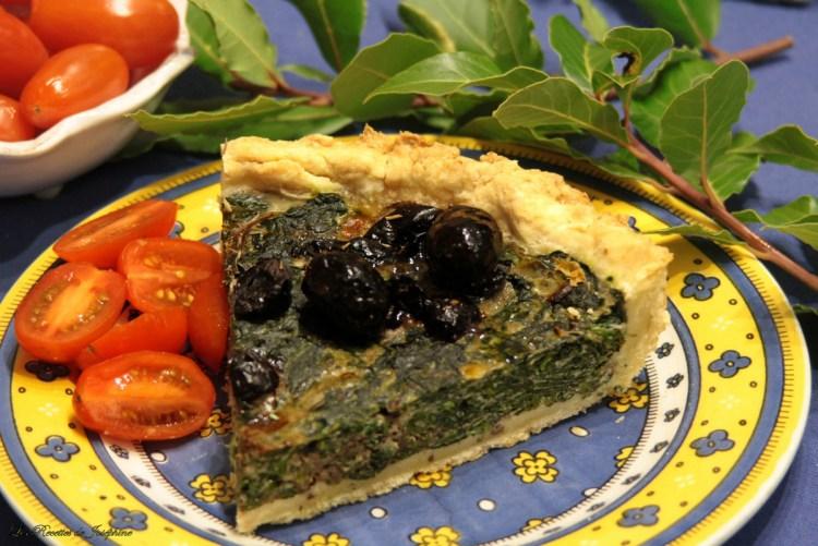 Tarte aux olives et épinards 5 w