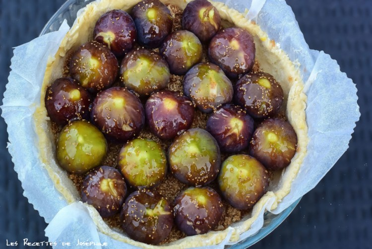tarte aux figues roties