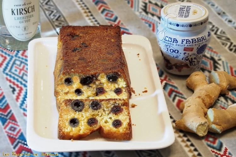 Cake amarena et gingembre